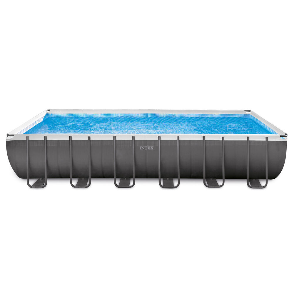 Intex 24 x 12 x 4 3 foot ultra frame pool set with for Obi frame pool