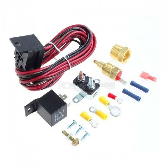degree radiator engine fan thermostat temperature switch  amp relay kit ebay
