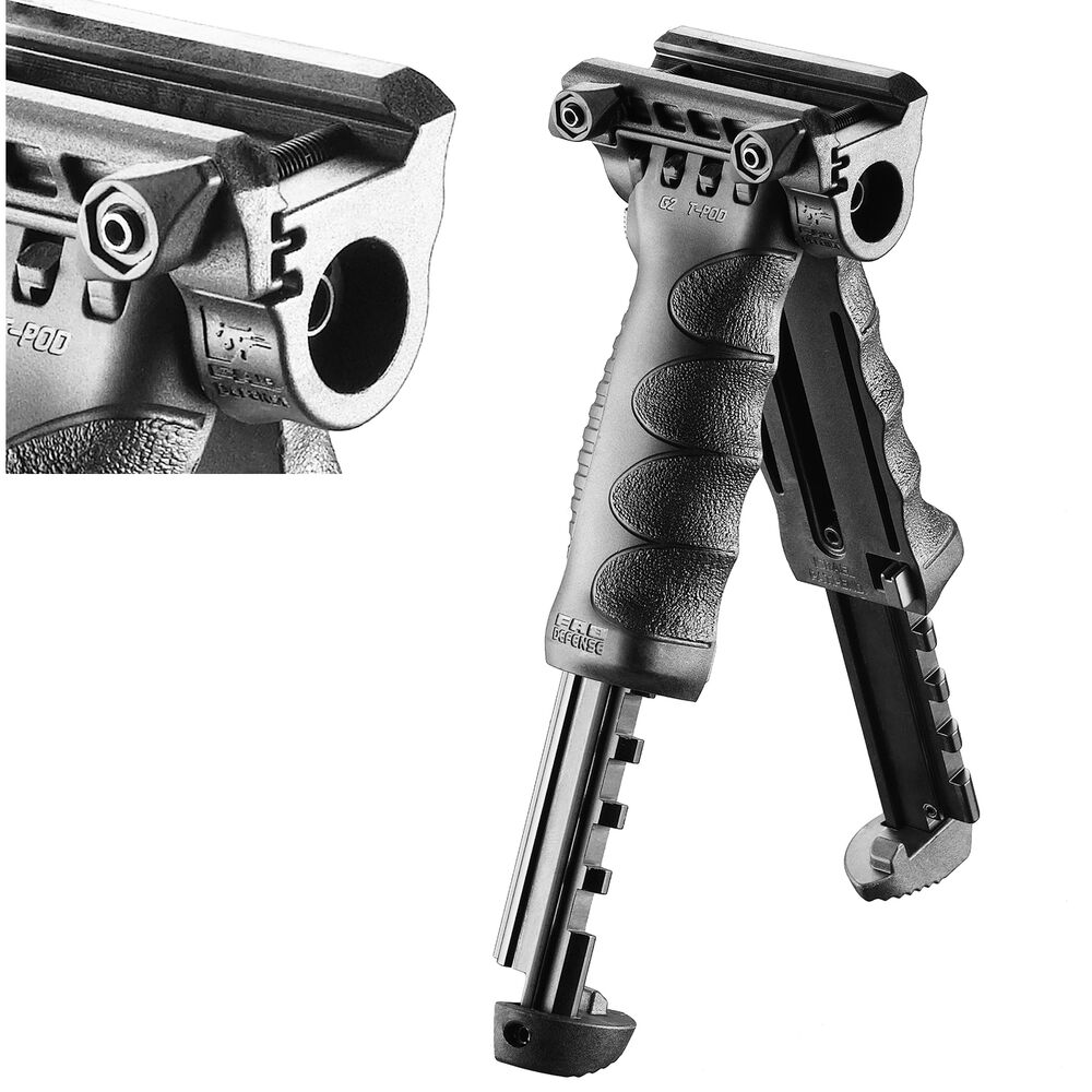 FAB Defense QUICK RELEASE 2 In 1 BIPOD Foregrip Tpod Color