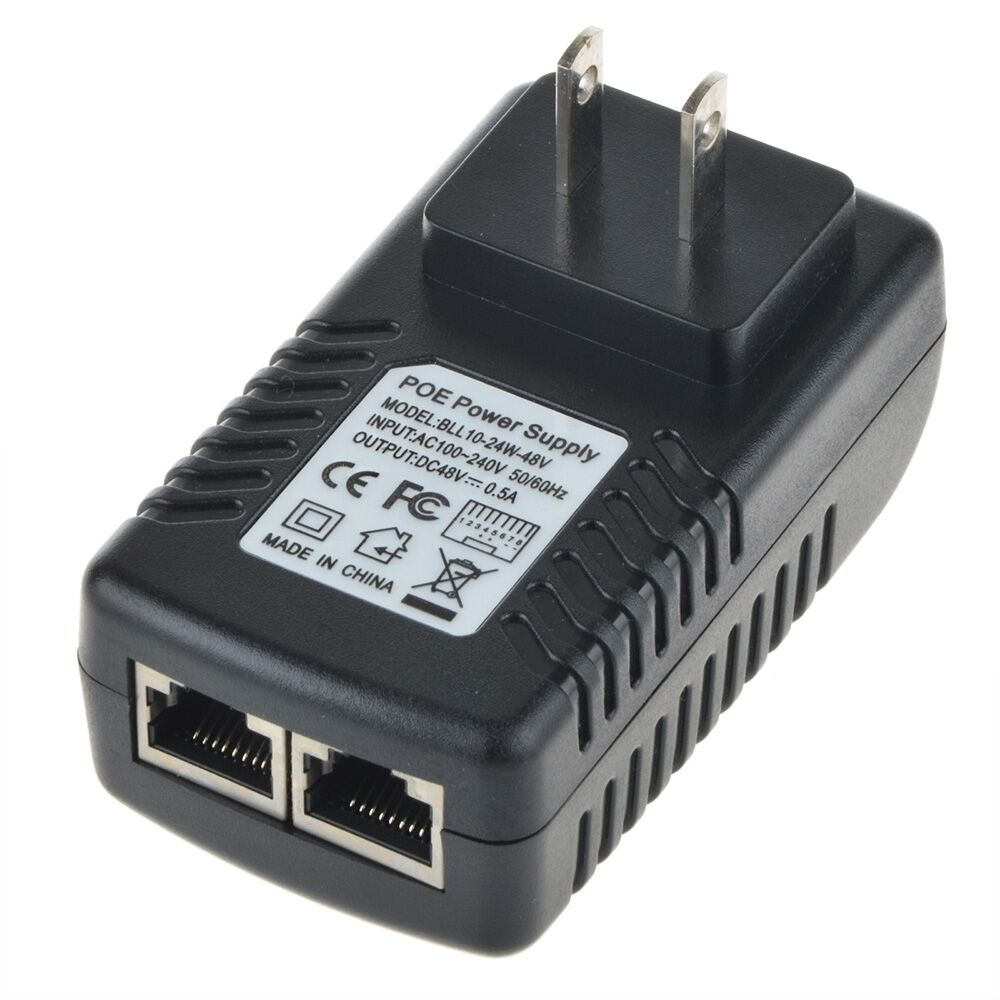 48v 0 5a Poe Injector Power Over Ethernet Adapter For