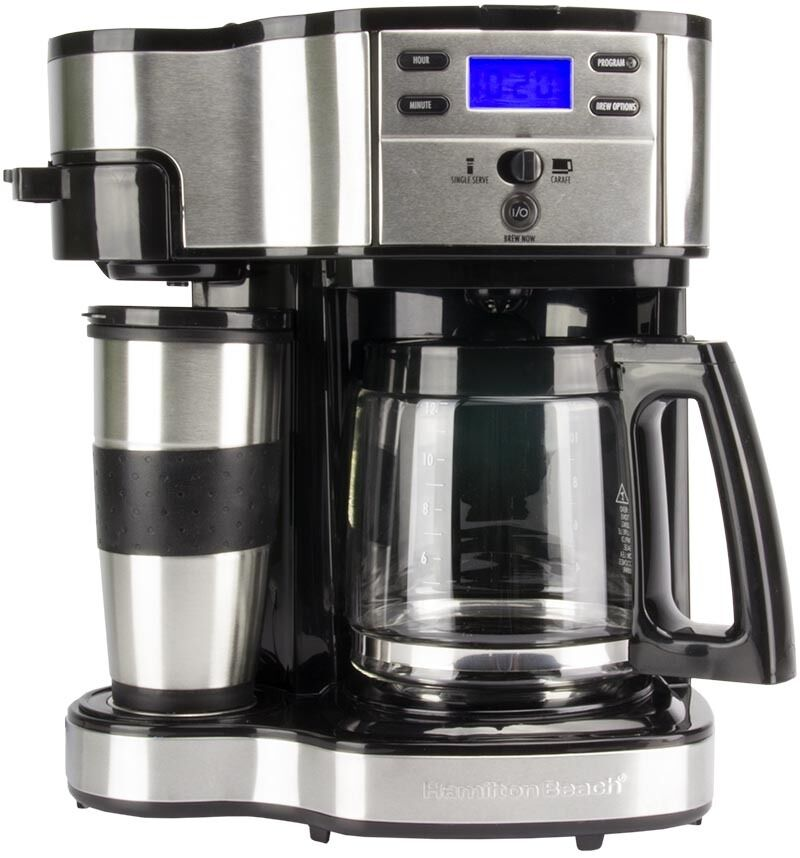 Hamilton beach 2 way single serve or 12 cup programmable Coffee maker brands