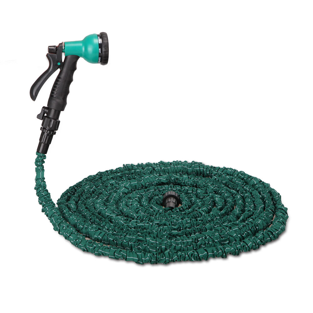 3x stronger deluxe 100 ft expandable flexible garden water hose w spray nozzle ebay Expandable garden hose 100 ft
