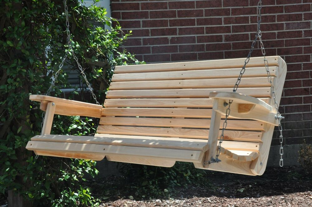 Cypress Porch Swing Wood Wooden Outdoor Furniture Swings | eBay