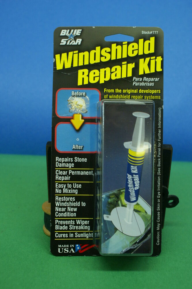 Windshield Glass Repair Kit For Stone Damage Chip Repair
