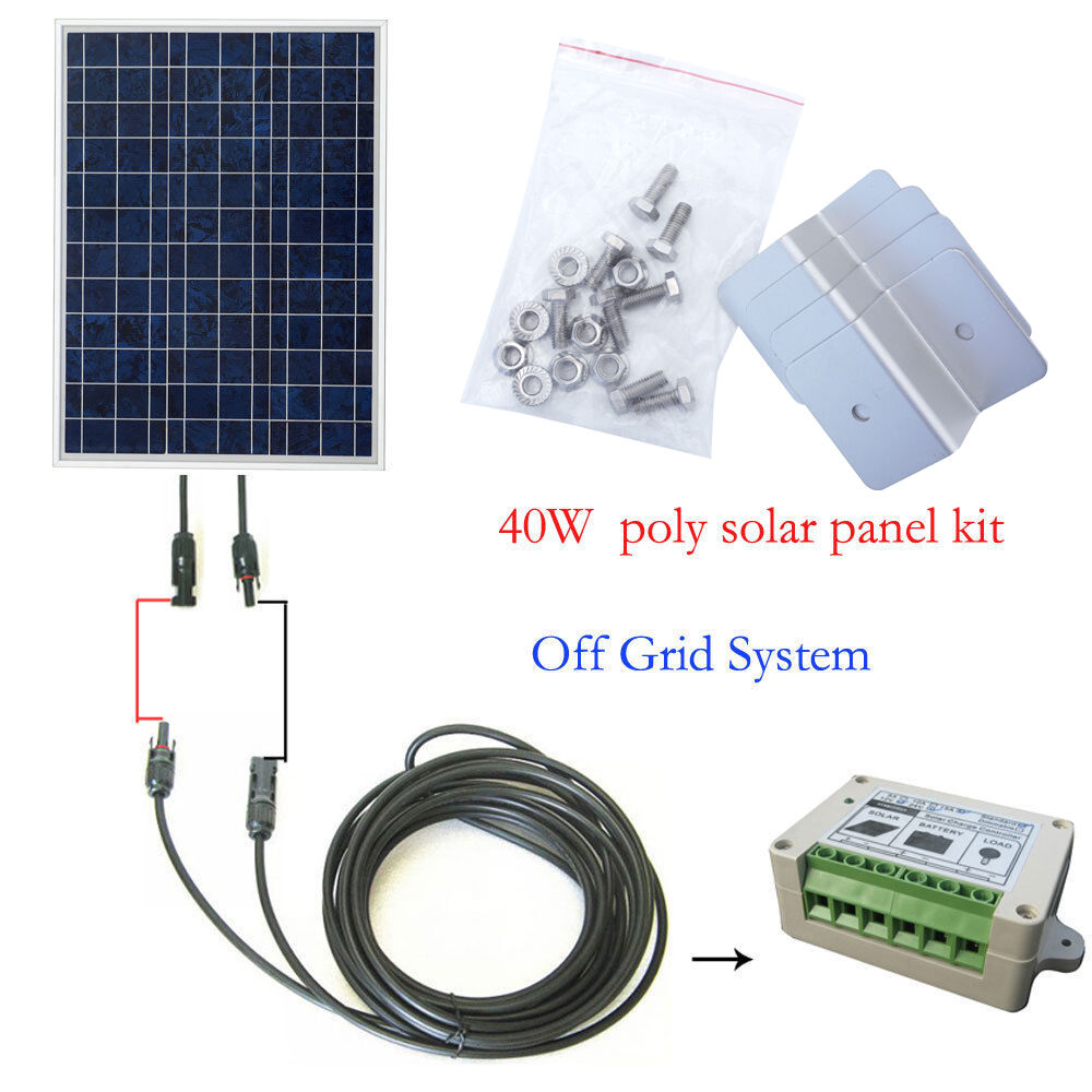 40watt Off Grid Complete Kit 40w Poly Pv Solar Panel For