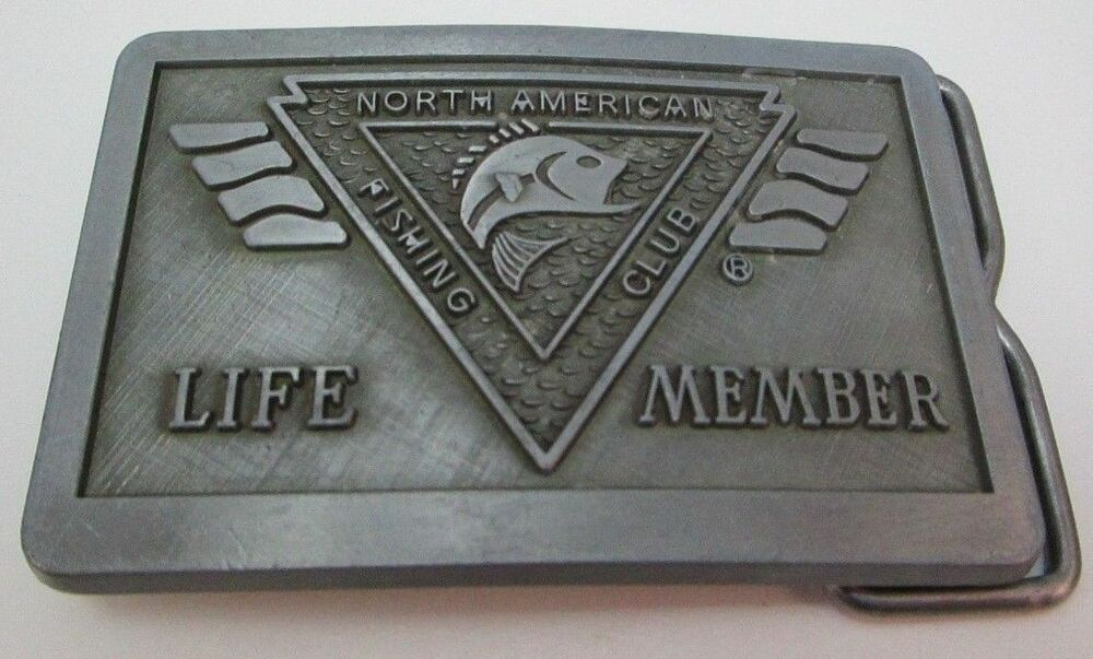 North american fishing club life member belt buckle ebay for North american fishing club