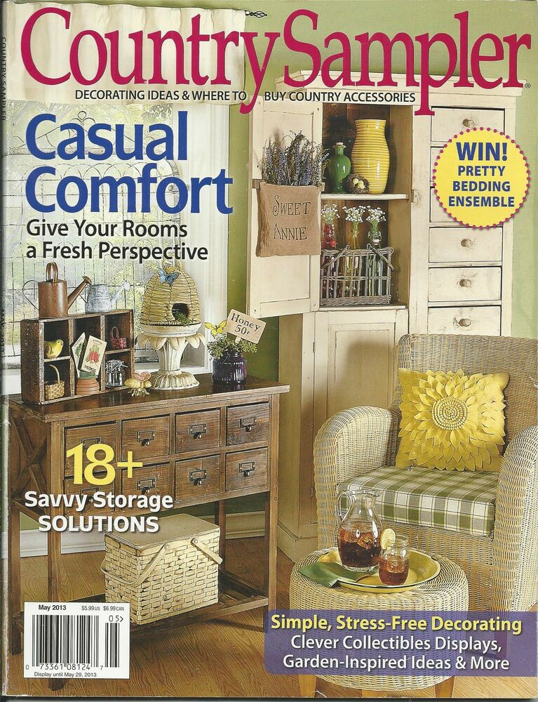 country sampler magazine casual comfort storage solutions