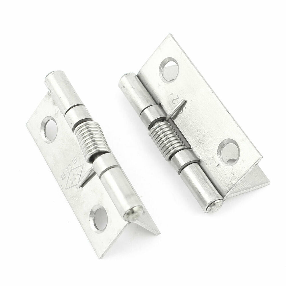 Details About 2pcs Spring Loaded Silver Tone Metal Window Cabinets Door Hinges Hardware 1 5
