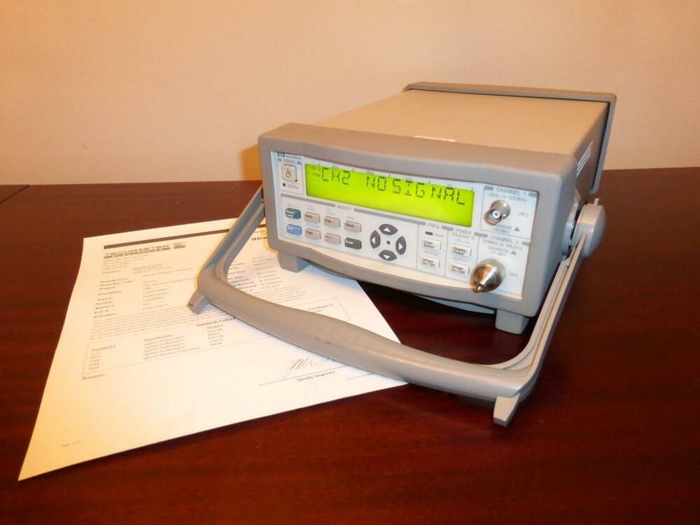 Photo Eye Frequency Counter : Agilent a ghz microwave frequency counter power