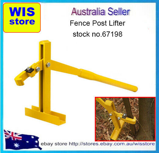 Steel star picket lifter fence post remover