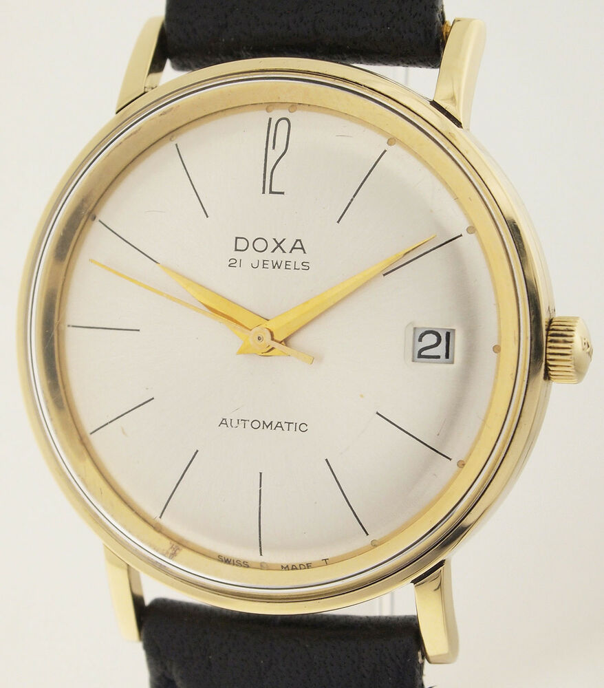 doxa automatic 21 jewels in 14ct gold herren armbanduhr. Black Bedroom Furniture Sets. Home Design Ideas