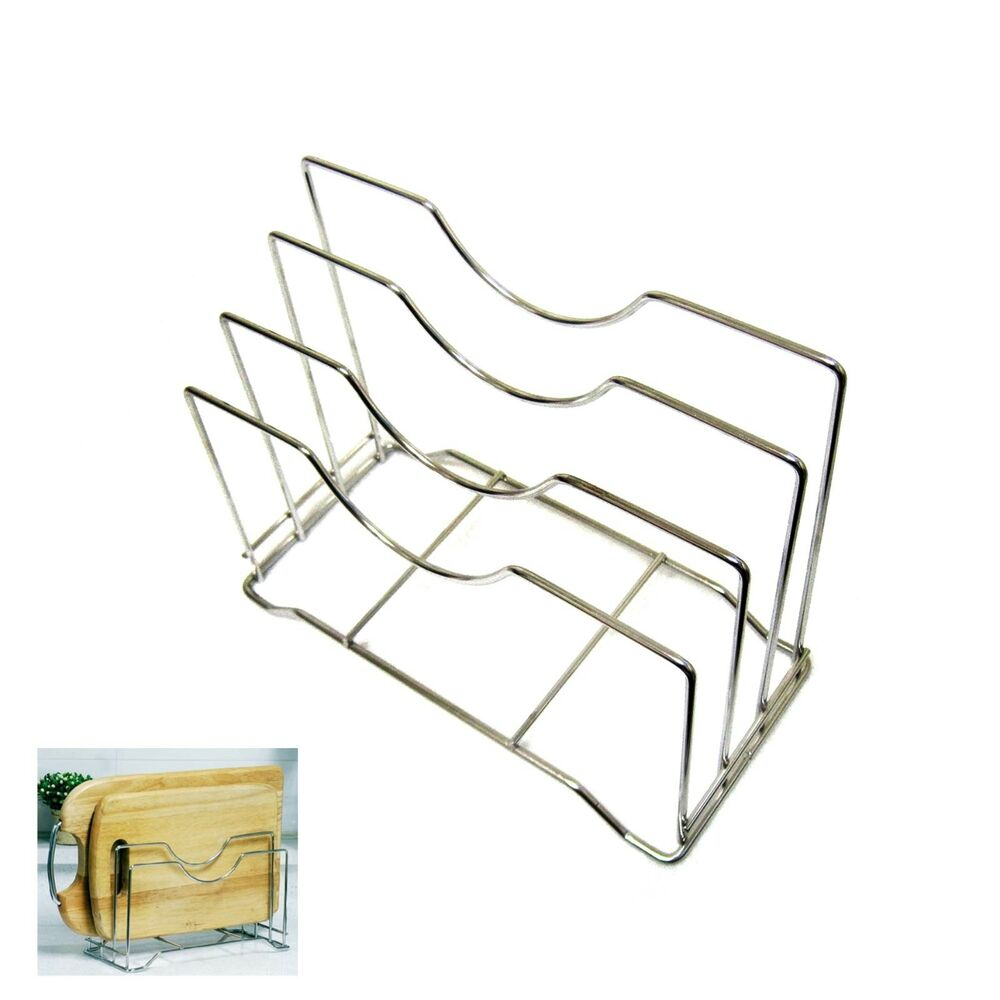 Stainless Steel Wire Chopping Board Holder Cutting Board
