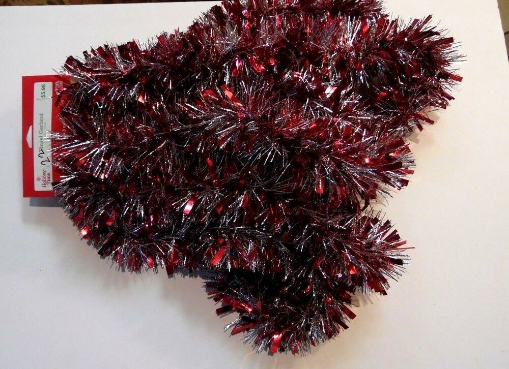 15 Ft Red Amp Silver Foil Tinsel Garland Valentines Day