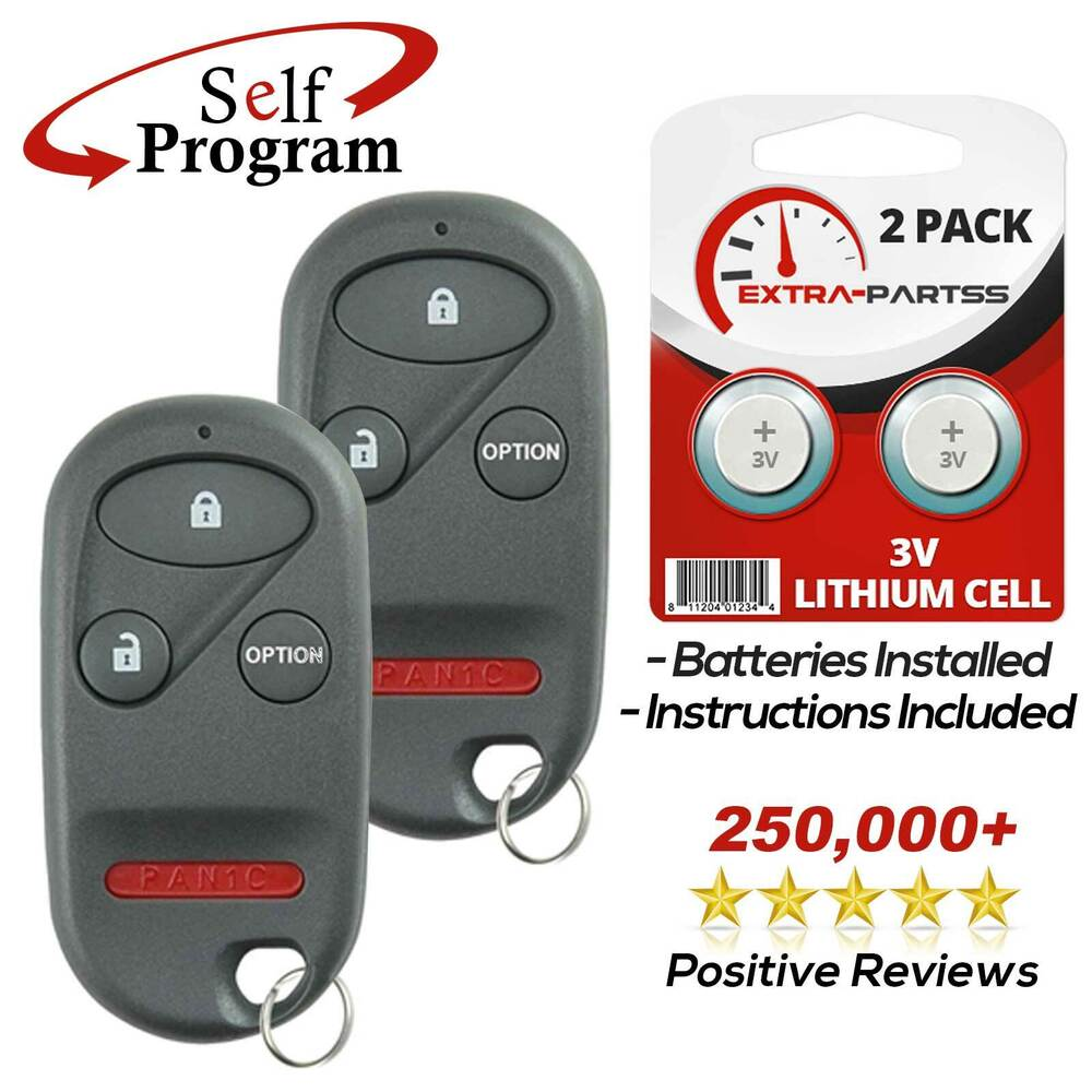 Honda Civic Key Replacement >> 2 New 4btn Replacement Keyless Entry Remote Car Fob ...