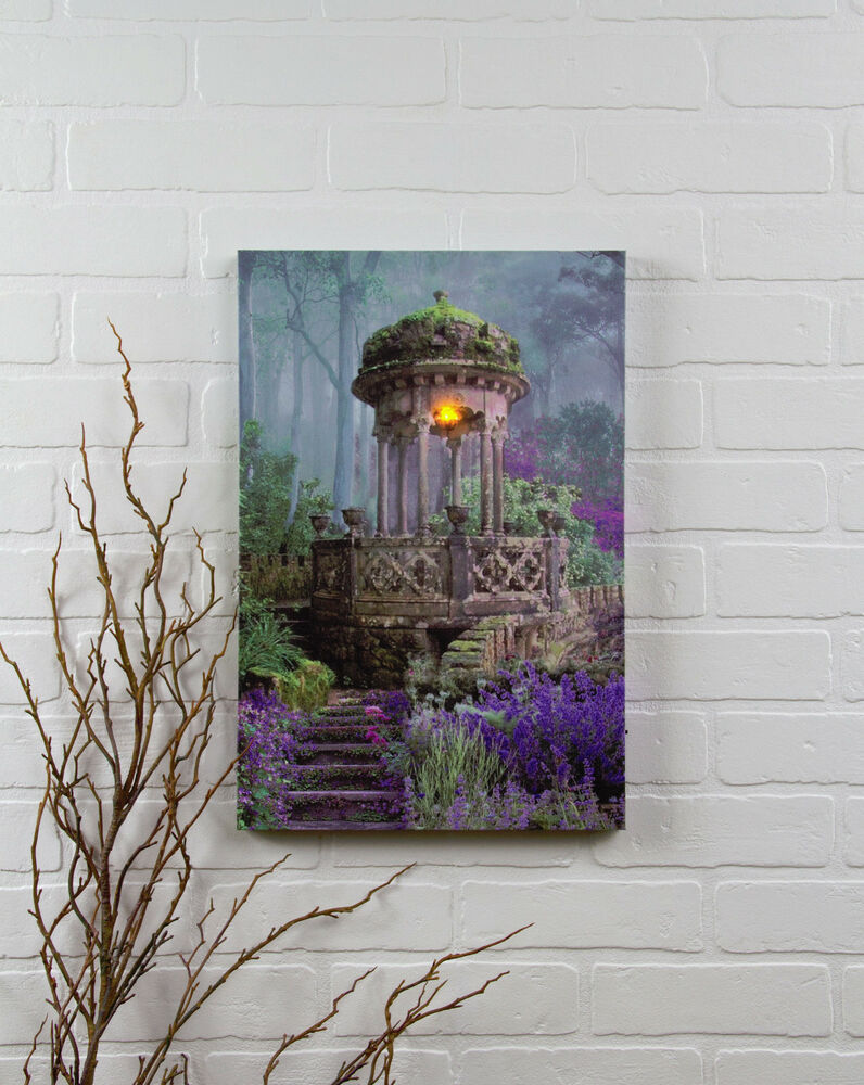 Lighted Canvas Wall Decor : Garden gazebo radiance lighted canvas new battery