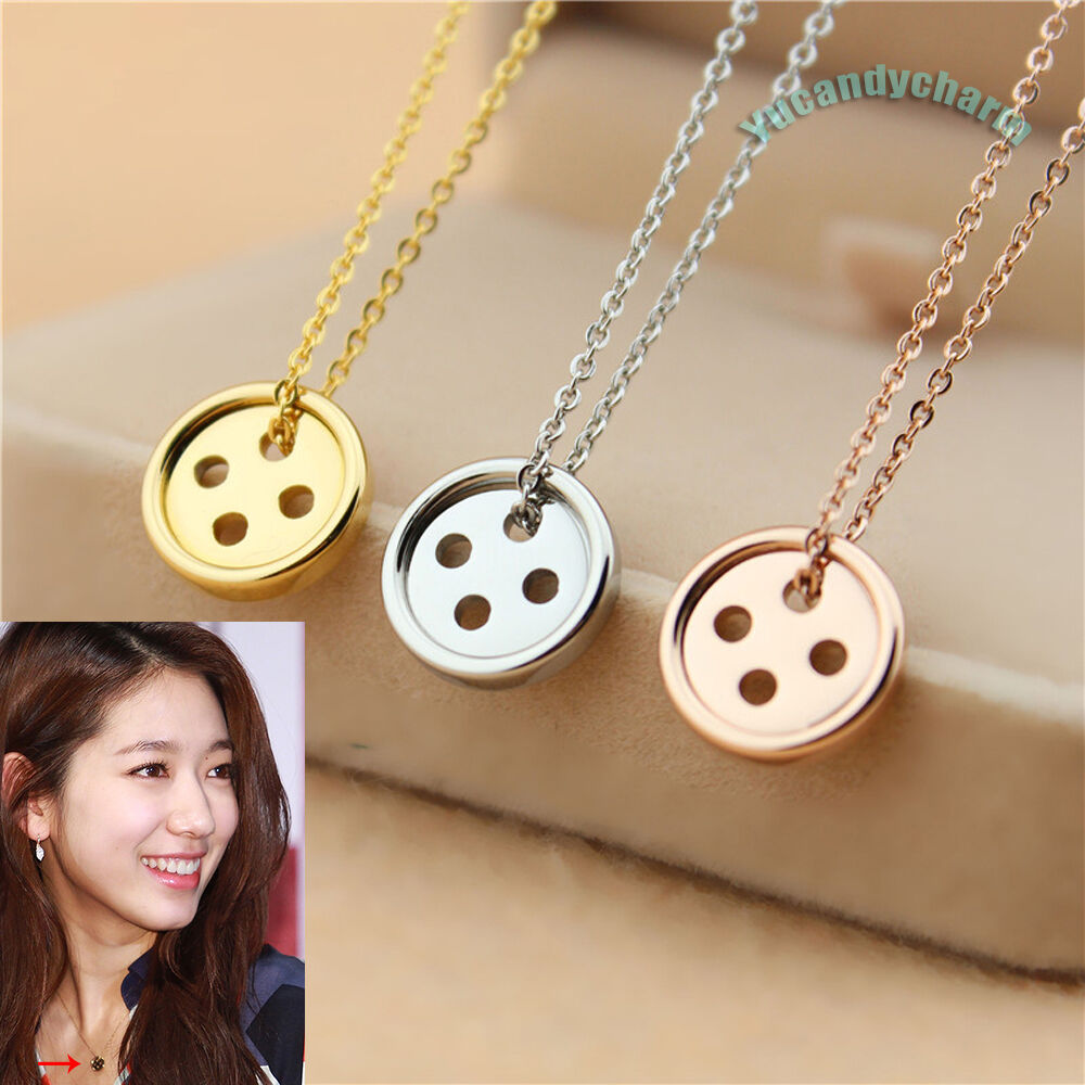 QUALITY Korean TV Drama PINOCCHIO Button Necklace Rose