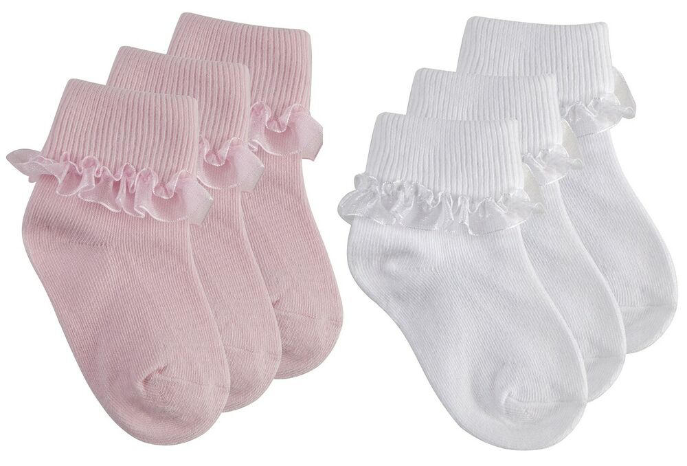 Tick Tock Baby Girls Cotton Rich Frilly Lace Top Socks | eBay