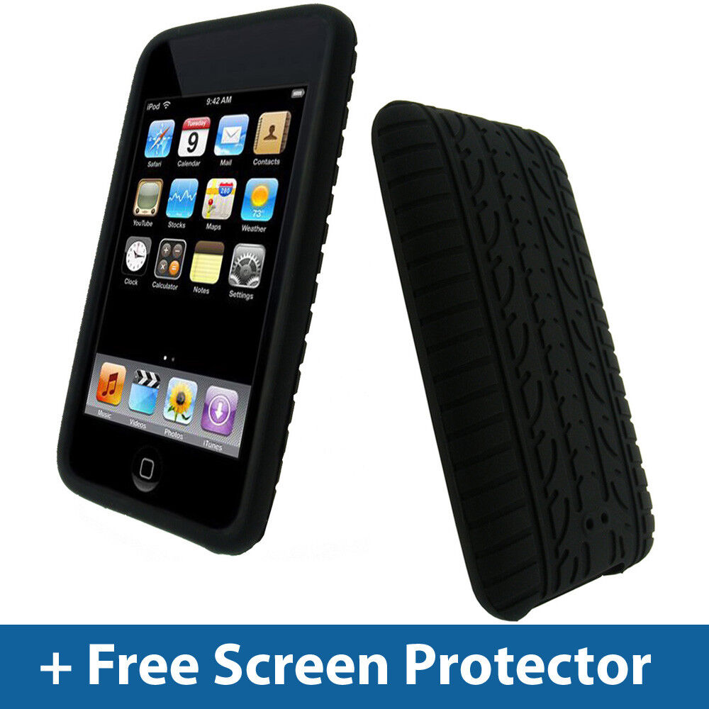 black tyre skin case for ipod touch 2nd 3rd gen 2g 3g. Black Bedroom Furniture Sets. Home Design Ideas