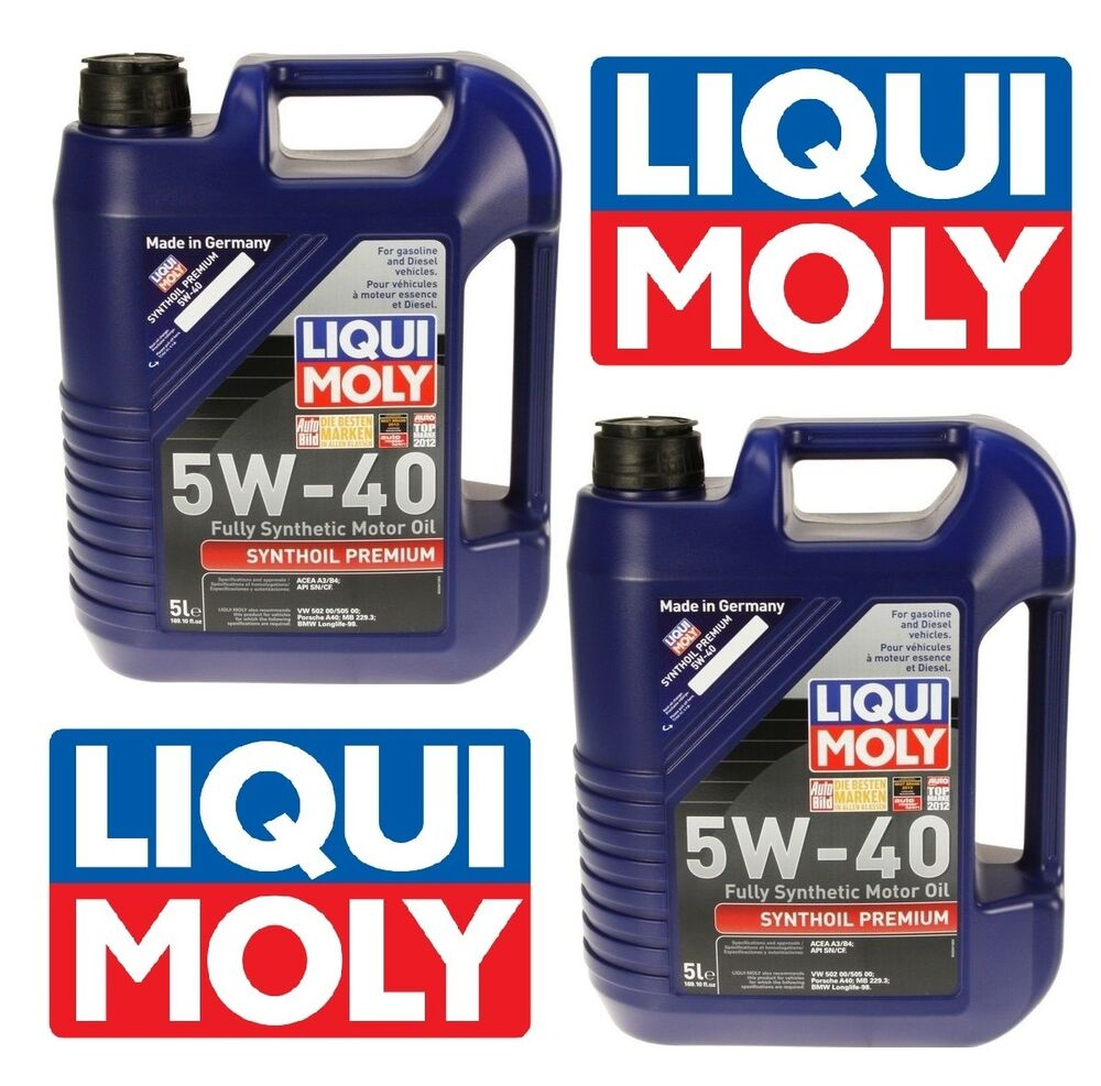 10 Liters Synthoil Full Synthetic Motor Oil 5w 40 Premium