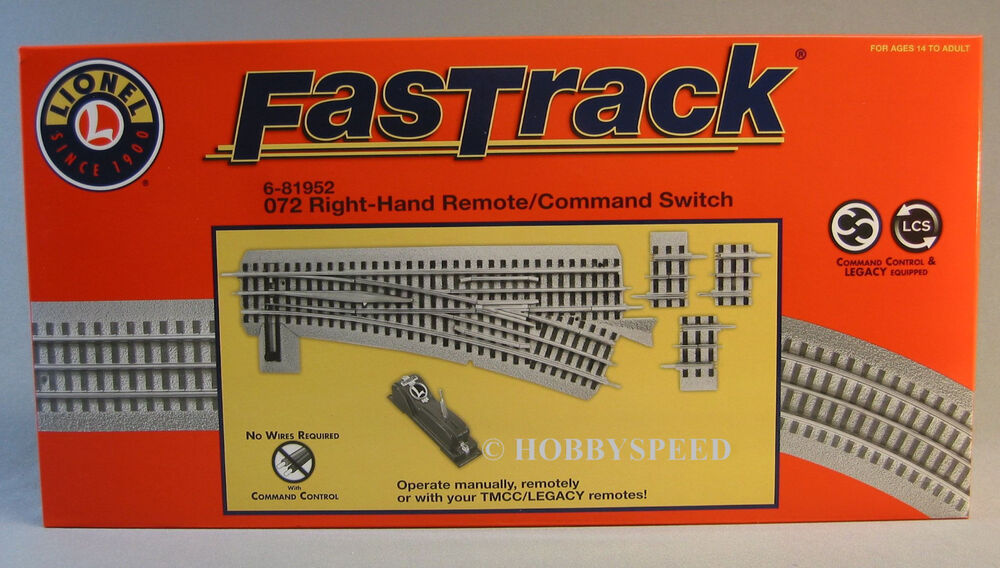 LIONEL FASTRACK 072 RH REMOTECOMMAND SWITCH track o gauge turnout – Lionel Fastrack Wiring Turn Out