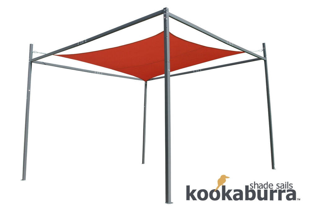 Steel sail shade frame metal sun canopy gazebo for 3m for Metal sun shade structures