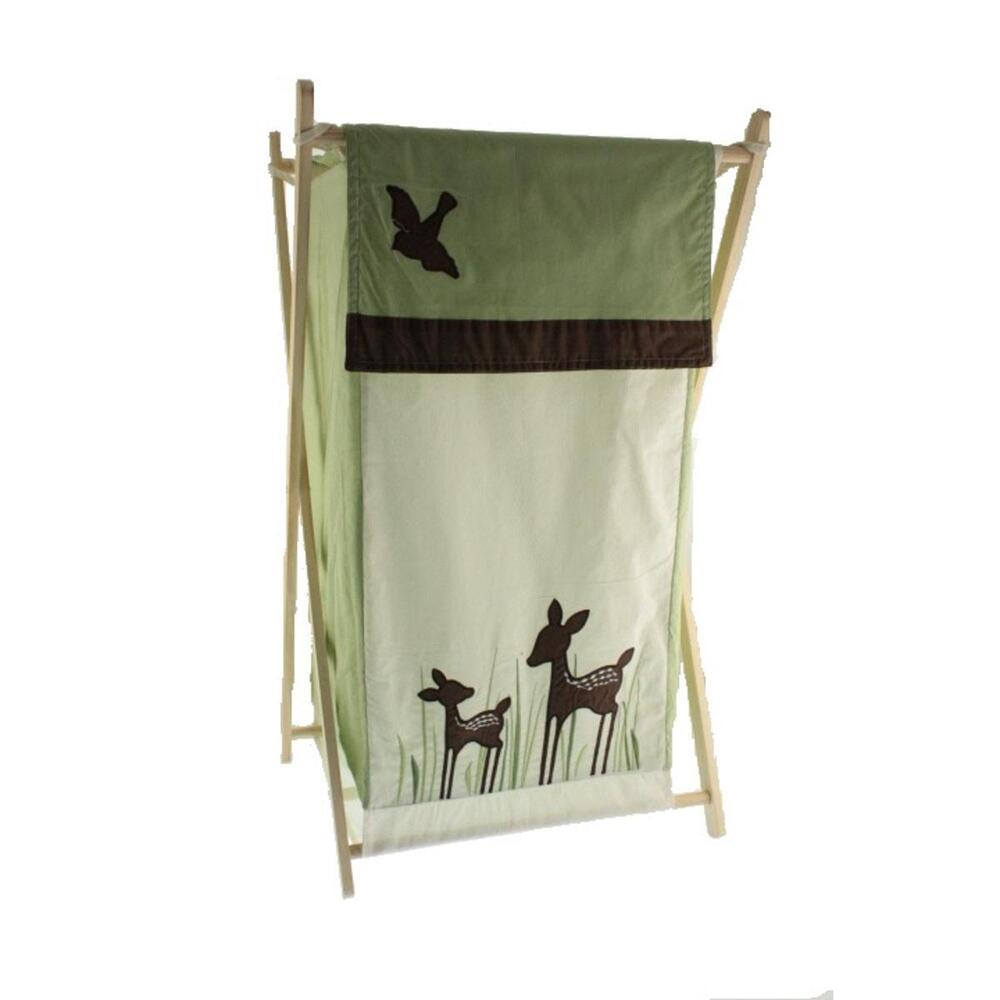 Kids Line 5416 Willow Brown Wooden Clothes Hamper Folding