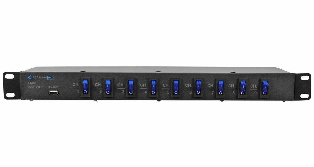 Technical Pro Ps9u 1u Rack Mount Dj Pro Audio Power Supply