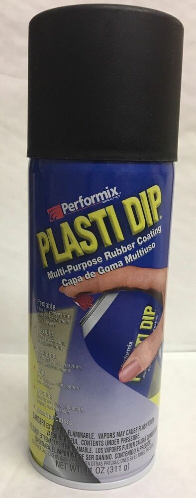 dip plastic rubber paint spray cans aerosol 11oz black usa ebay. Black Bedroom Furniture Sets. Home Design Ideas
