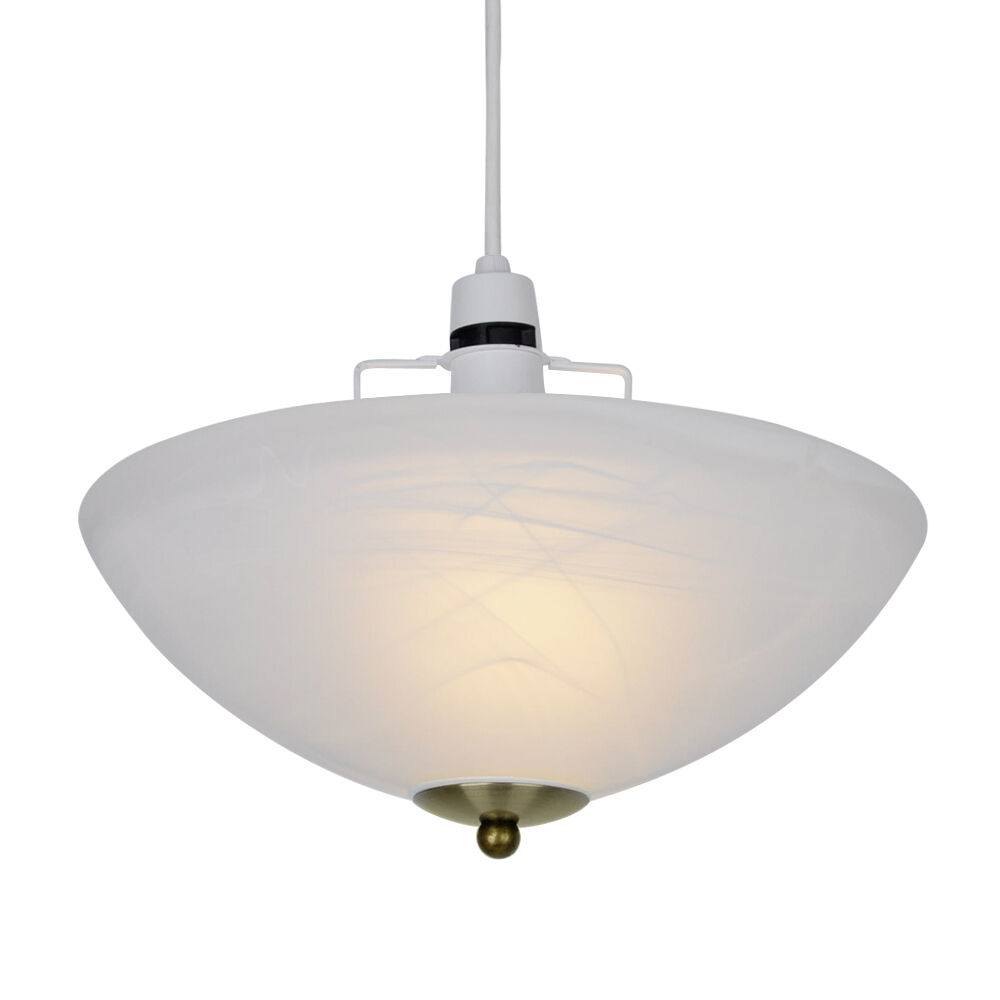 14 In Single Shade White And Silver Hanging Lamp Global: Alabaster Glass Uplighter Ceiling Light Shade Antique