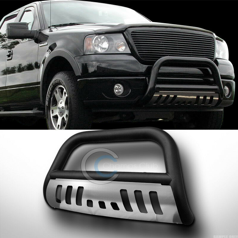 Ford Expedition Bumper Guard : Matte black hd bull bar bumper grille guard w ss skid