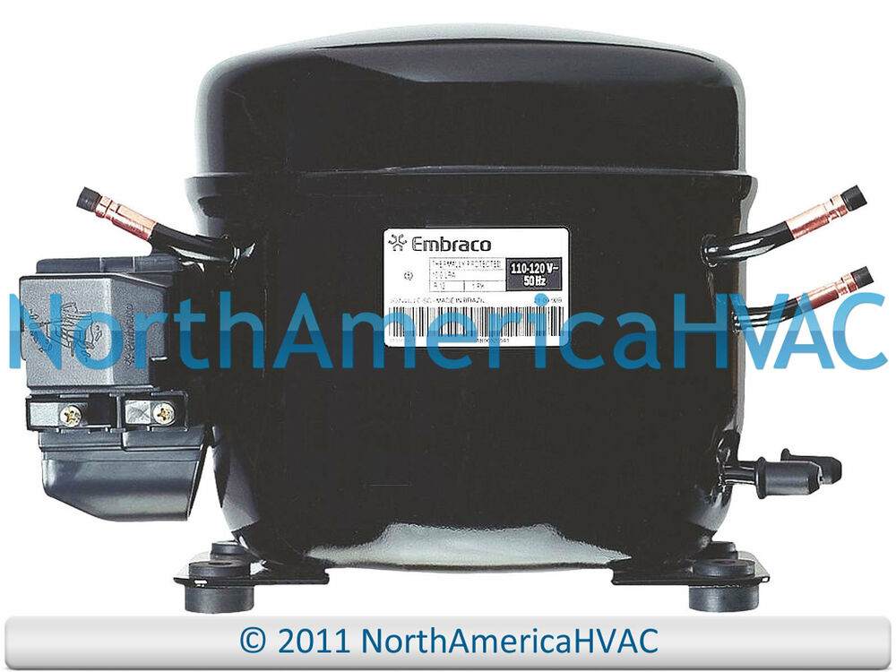 embraco ffhbk ffhbk replacement refrigeration compressor  embraco ff10hbk ff10hbk1 replacement refrigeration compressor 1 4 hp r 134a 115v