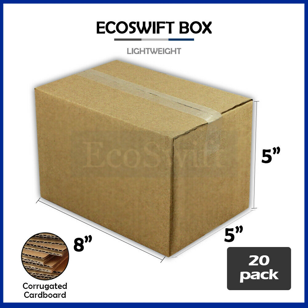 20 8x5x5 cardboard packing mailing moving shipping boxes. Black Bedroom Furniture Sets. Home Design Ideas