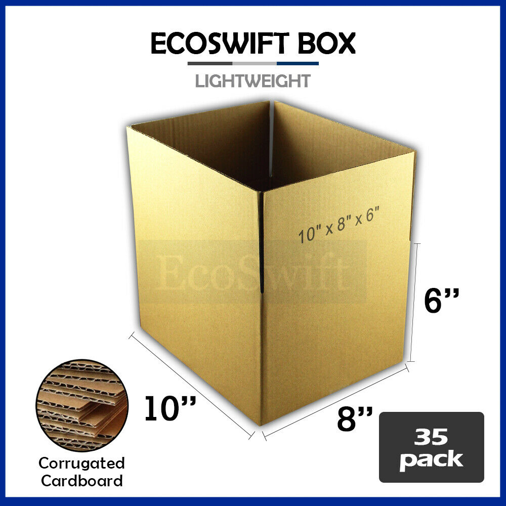 30 9x6x3 Cardboard Packing Mailing Moving Shipping Boxes Corrugated Box Cartons