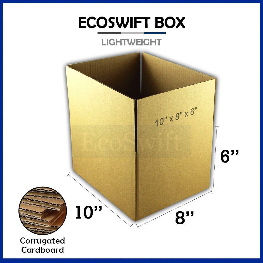 1 10x8x6 cardboard packing mailing moving shipping boxes. Black Bedroom Furniture Sets. Home Design Ideas