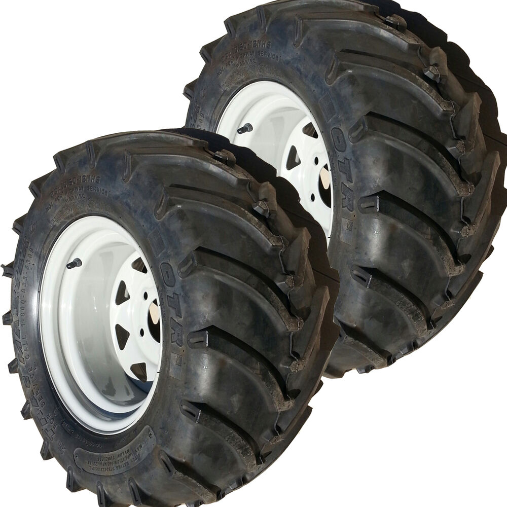 Tractor Tire Boots : Tire rim wheel assembly lawn mower garden