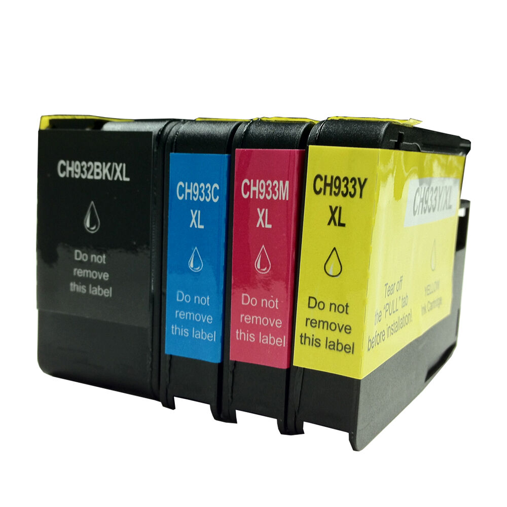 hp 932xl 933xl ink cartridge new chip for officejet 6100 6600 6700 4 pack ebay. Black Bedroom Furniture Sets. Home Design Ideas