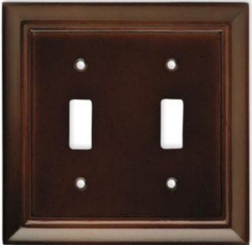 wood double light switch wall plate outlet cover 64531 ebay. Black Bedroom Furniture Sets. Home Design Ideas