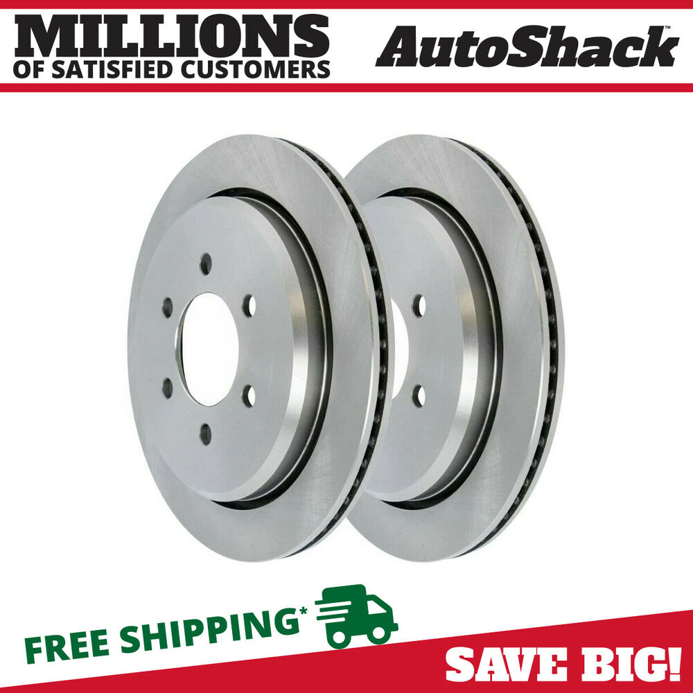 Pair of Rear Left Right Brake Rotors for 03-06 Ford Expedition Lincoln ...