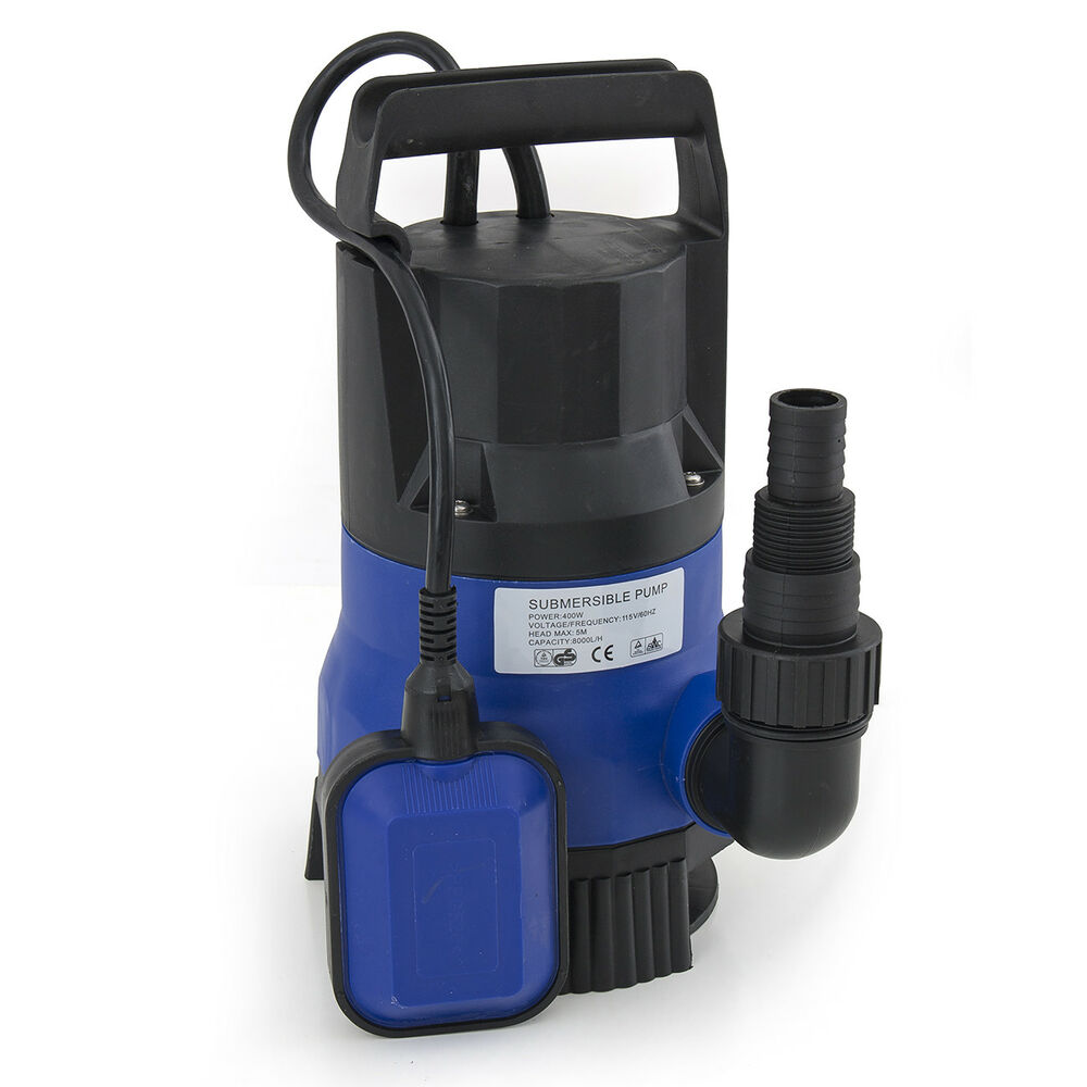 2000gph submersible clean dirty water pump 1 2hp swimming for Pond drain pump