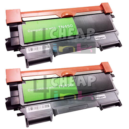 for brother tn450 tn 450 toner cartridge ink dcp 7060d dcp 7065n hl 2130 2 pack ebay. Black Bedroom Furniture Sets. Home Design Ideas