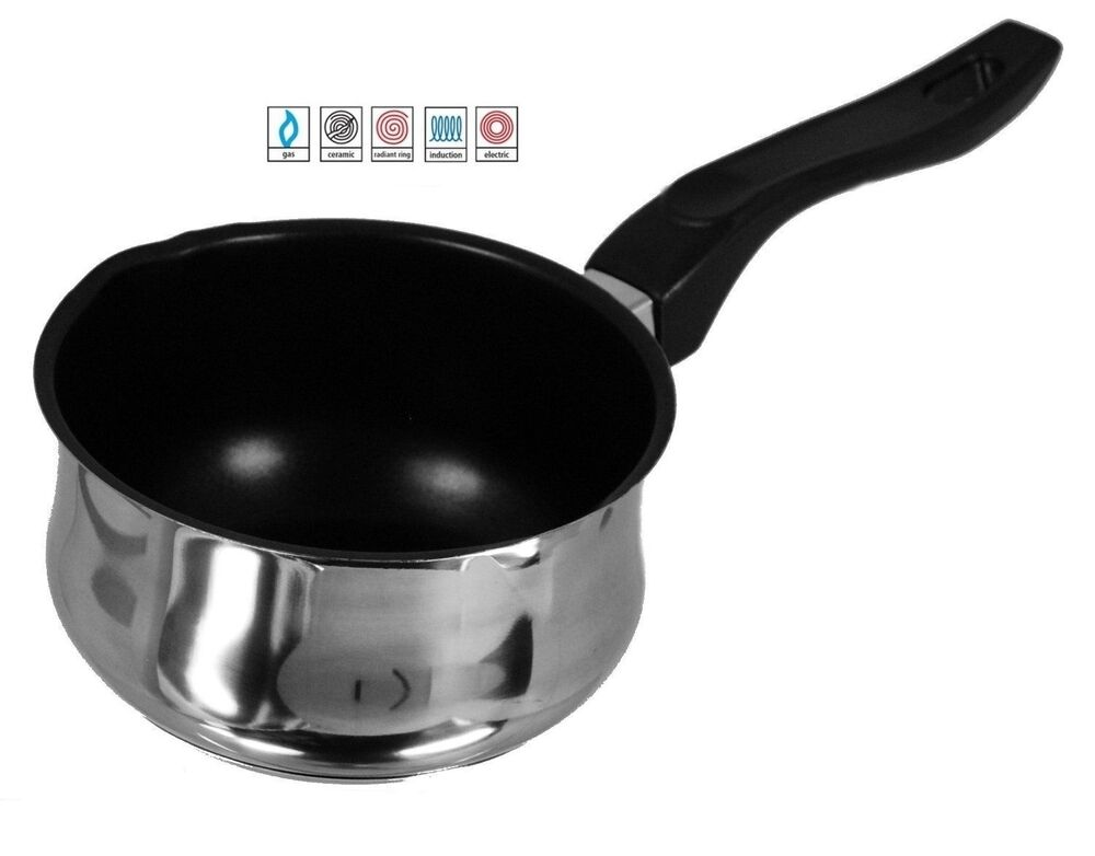 14cm non stick milk pan sacepan pot bakelite handle for Best non stick milk pan