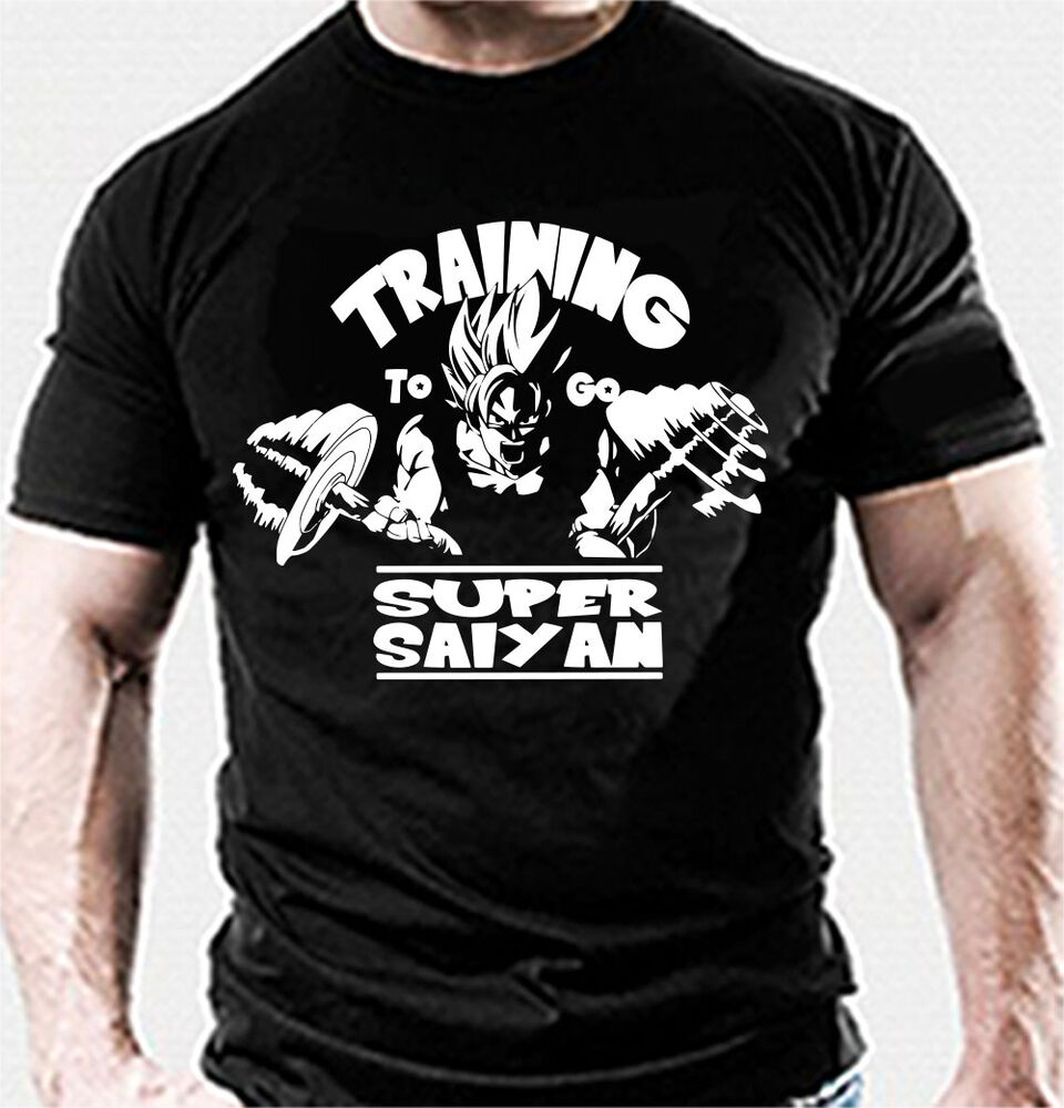 Training to go super saiyan gym bodybuilding top fitness for T shirts for gym workout