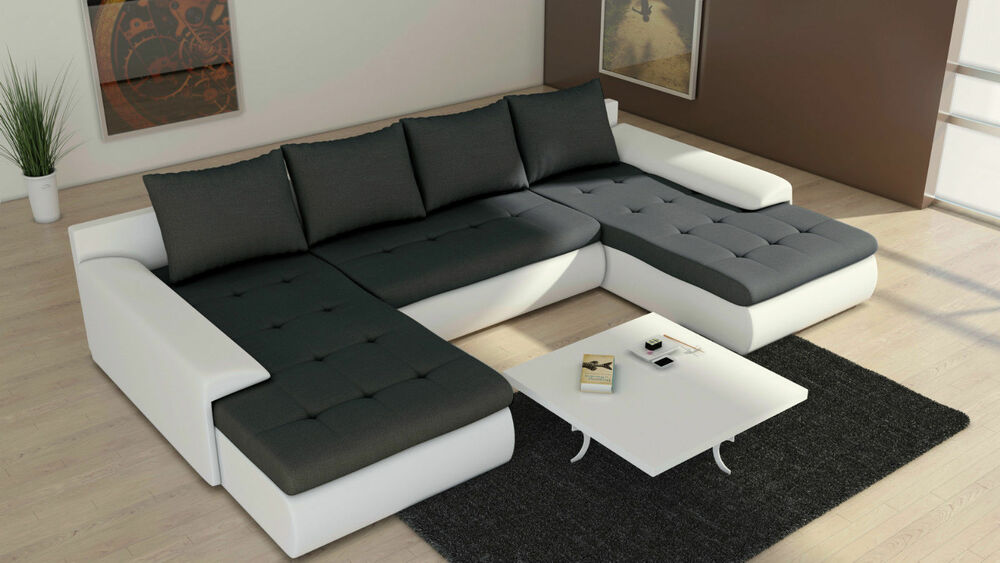 couch garnitur ecksofa eckcouch sofagarnitur sofa future 2 1 u wohnlandschaft 4260365382807 ebay. Black Bedroom Furniture Sets. Home Design Ideas