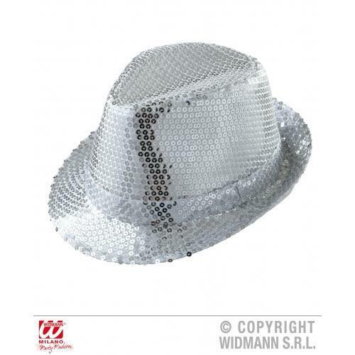 Details about Silver Sequin Fedora Hat Michael Jackson Fancy Dress Costume  Accessory 892f2430a01