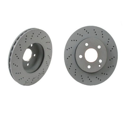 Set Of 2 Genuine Mercedes Front Brake Rotors C250 C300 With Sport Package Ebay