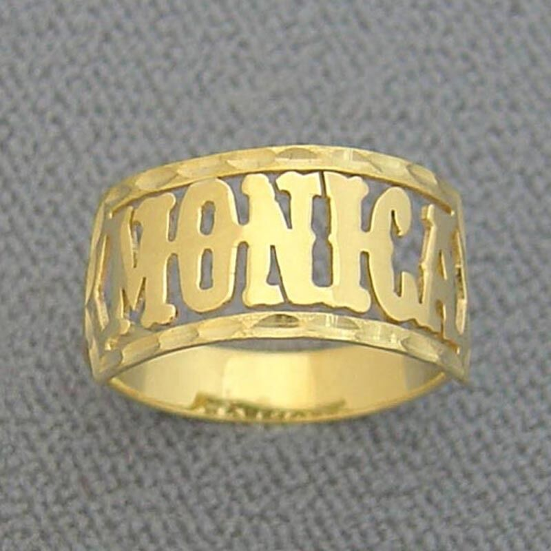 solid 14k gold name ring personalized jewelry custom