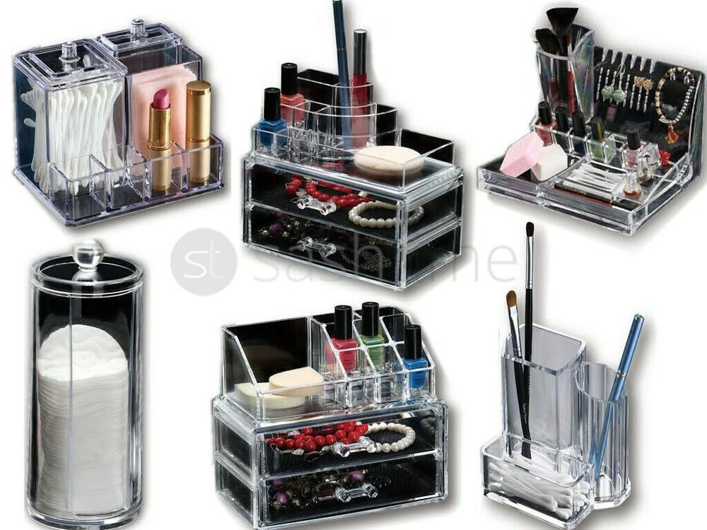 6 designs clear acrylic cosmetic organizer makeup. Black Bedroom Furniture Sets. Home Design Ideas
