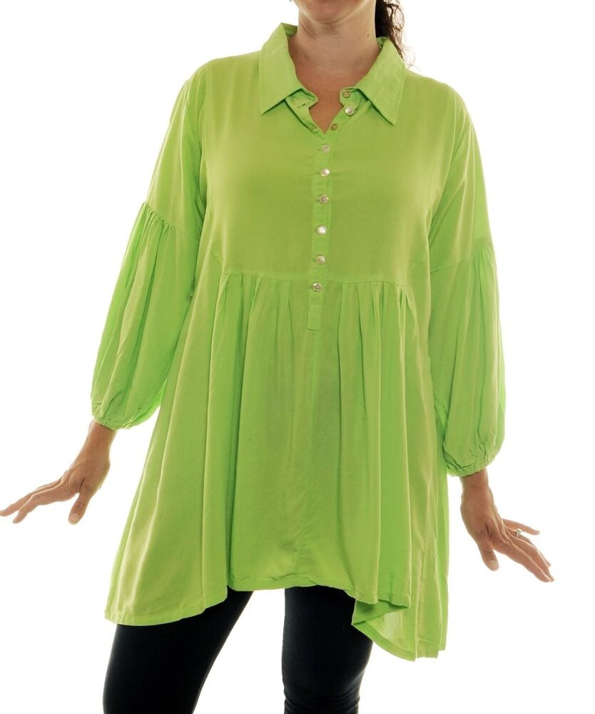 Lime Green Blouse Womens 38