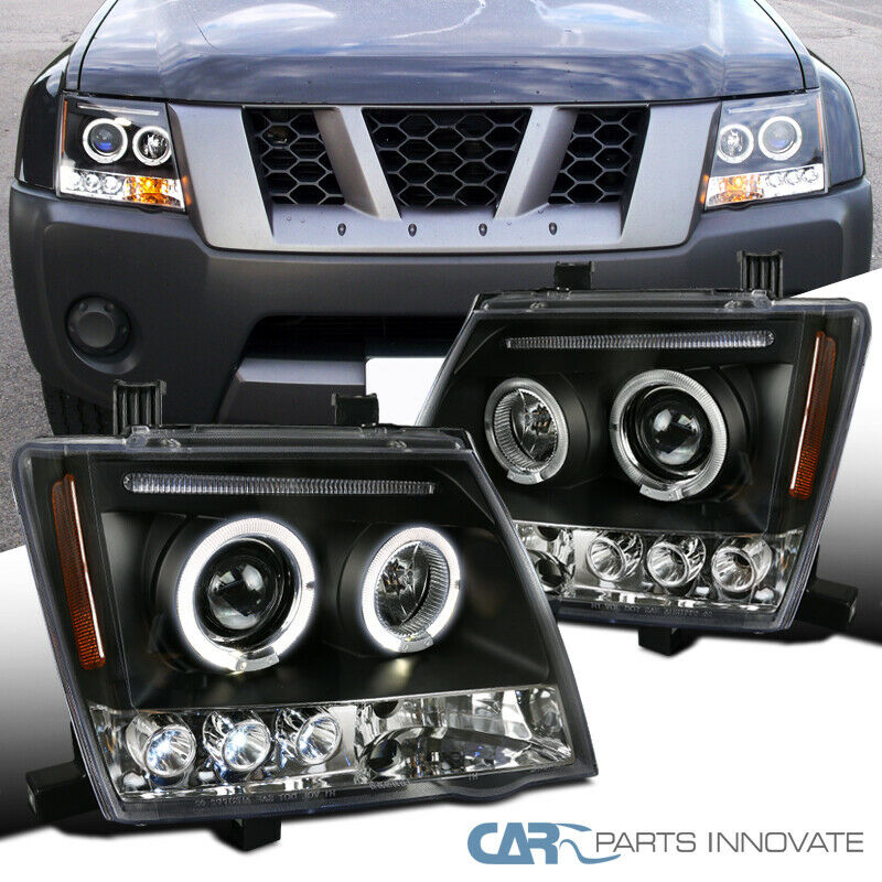 For Nissan 05 12 Xterra Led Halo Projector Headlights Lamp