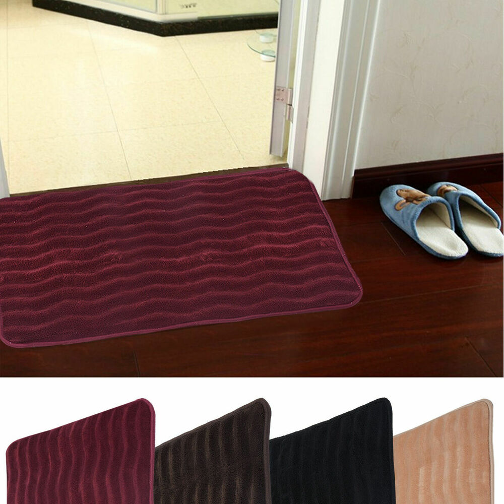 "Carpet In A Bathroom: 24"" X 36"" Non-slip Back Rug Soft Bathroom Carpet Memory"